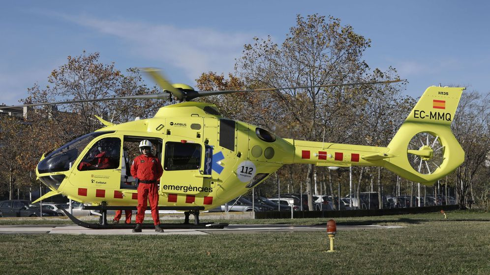 Foto: Foto de archivo de un helicóptero Airbus medicalizado de emergencias. (EFE)
