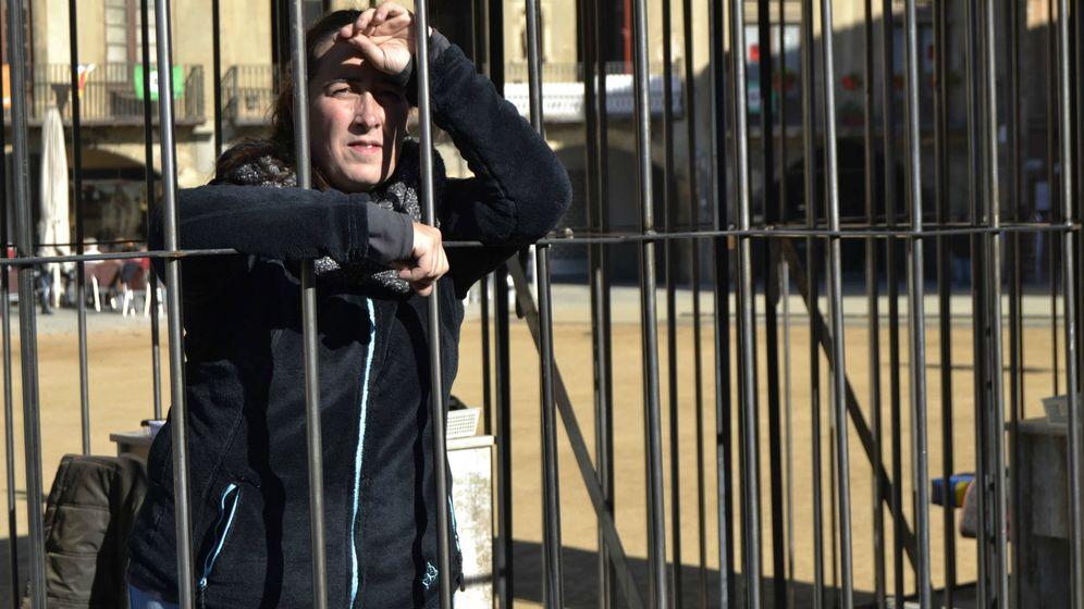 Foto: Gloria ha estado cuatro horas encerrada voluntariamente en Vic. (M. Z.)