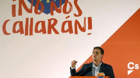 Albert Rivera e Inés Arrimadas en el acto de Ciudadanos contra el referéndum del 1-O