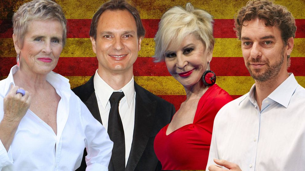Independenciómetro: famosos a favor o en contra del 'procés' catalán