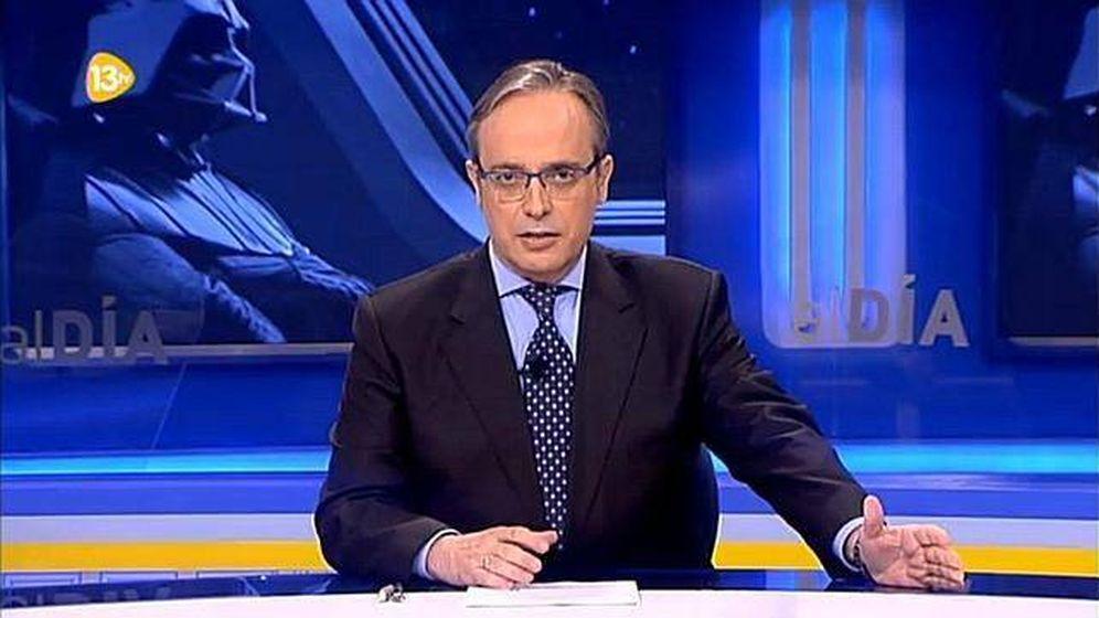Foto: Alfredo Urdaci, presentador de 13TV.
