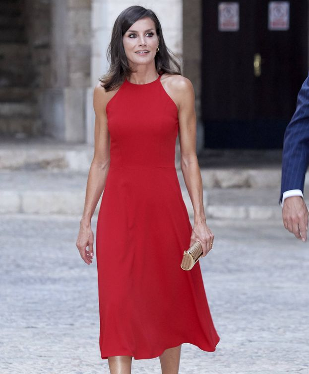 Foto:  La reina Letizia, en La Almudaina. (Getty)