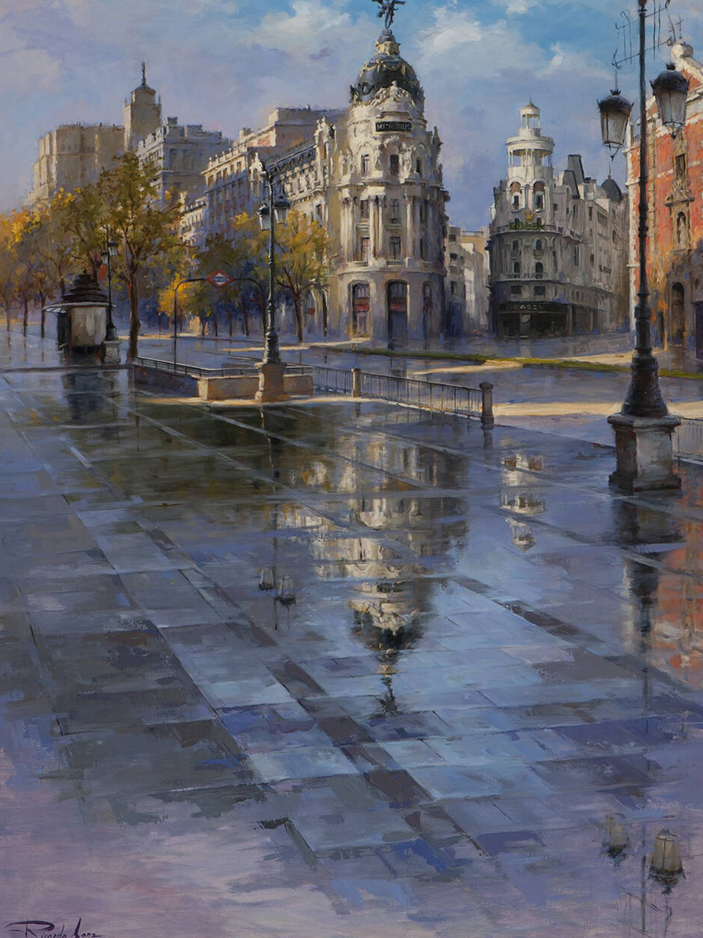 'Luz de mañana en la calle de Alcalá', otra de las obras de su nueva exposición. (Cortesía)