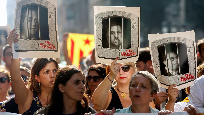 Protestas en Barcelona por la sentencia. (EFE)
