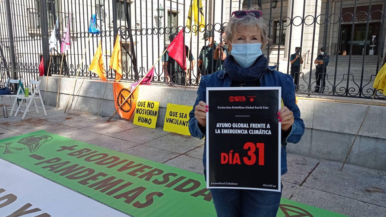 Karen Killen durante la huelga de hambre.