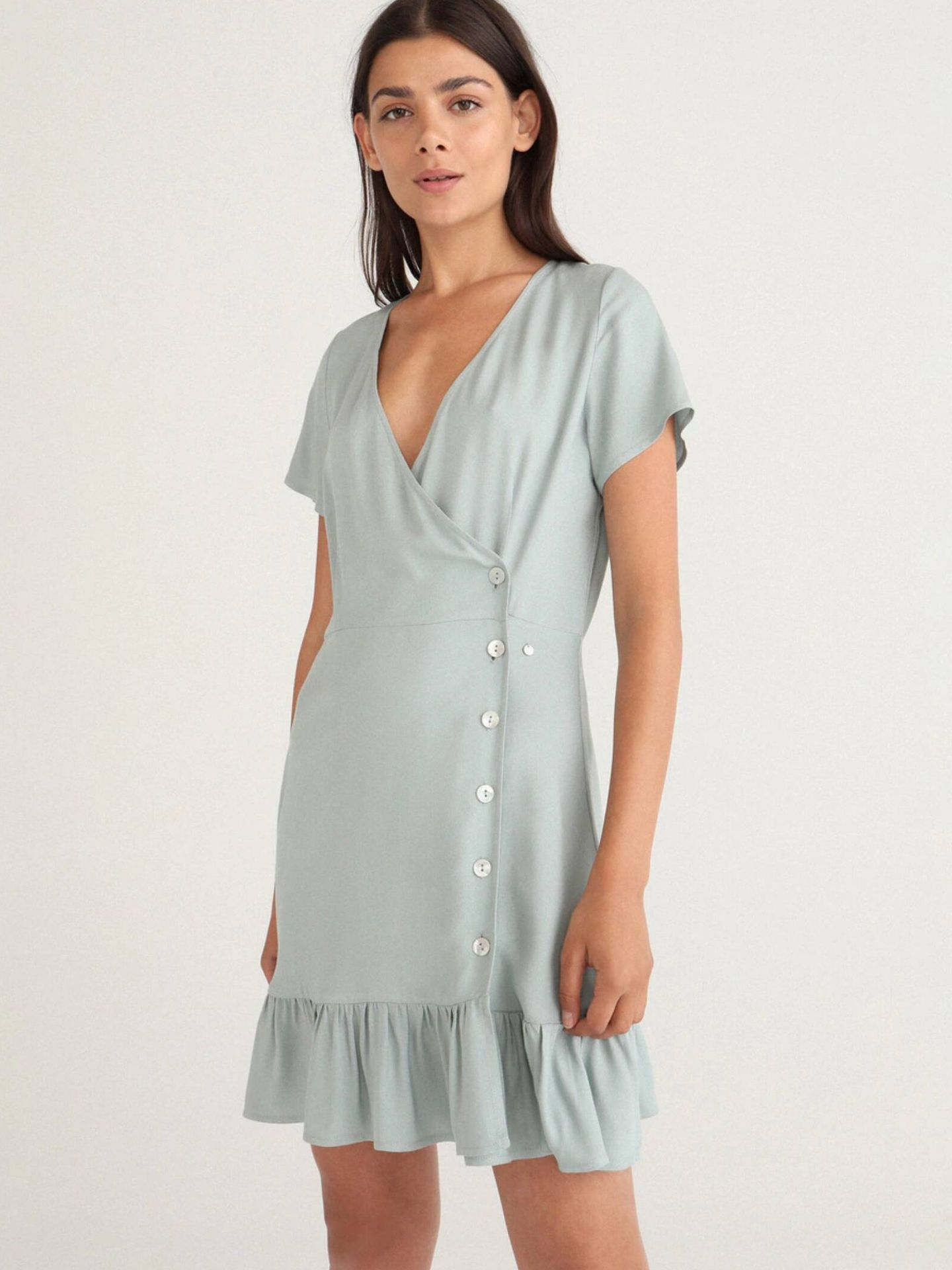 Vestido de Green Coast de las rebajas de El Corte Inglés. (Cortesía)