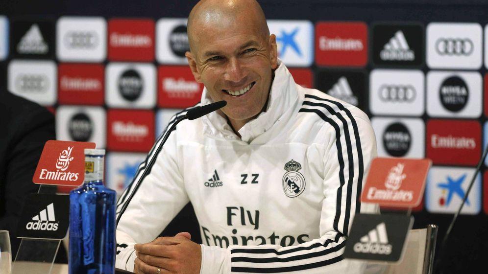 Foto: Zinédine Zidane, en una rueda de prensa. (EFE)