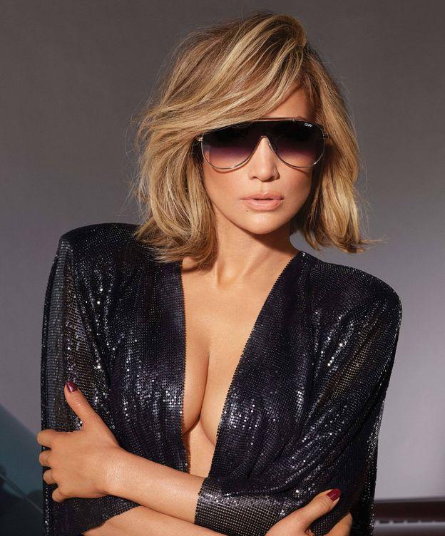 Foto: Jennifer Lopez, presumiendo de flequillo en su última campaña con Quay Australia. (Cortesía QuayAustralia)