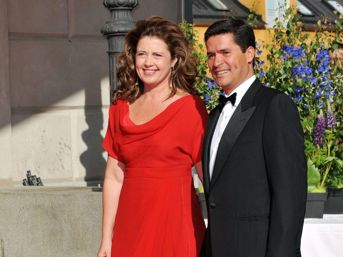 Foto: La princesa Alexia de Grecia y su marido, Carlos Morales. (Getty)