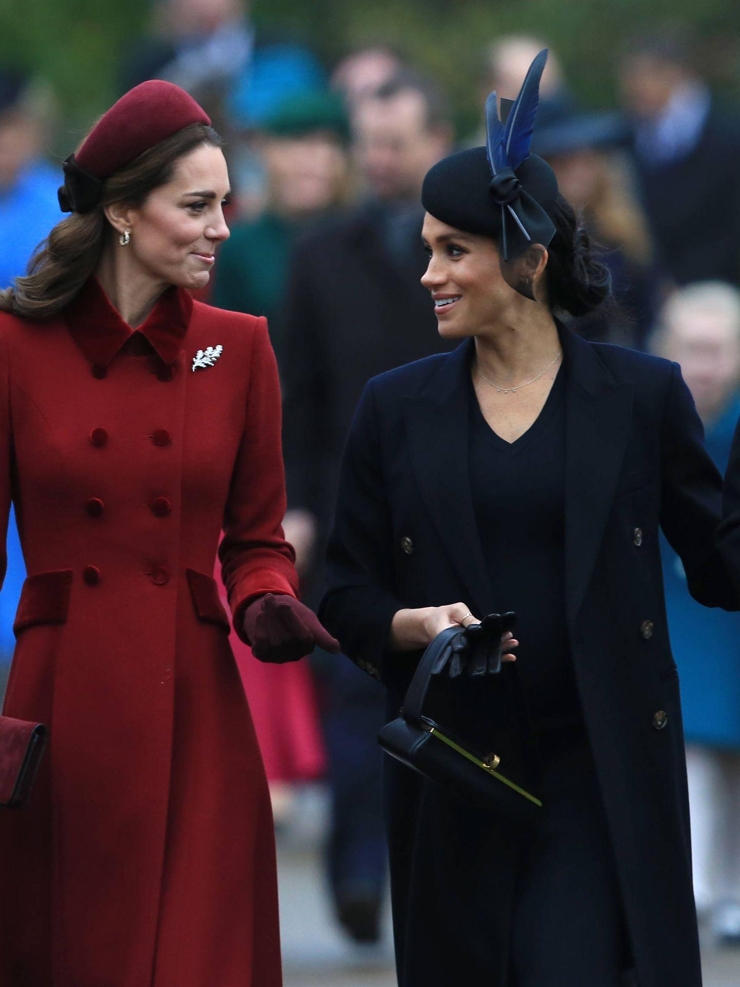 Meghan Markle y Kate Middleton en una imagen de archivo. (Getty)