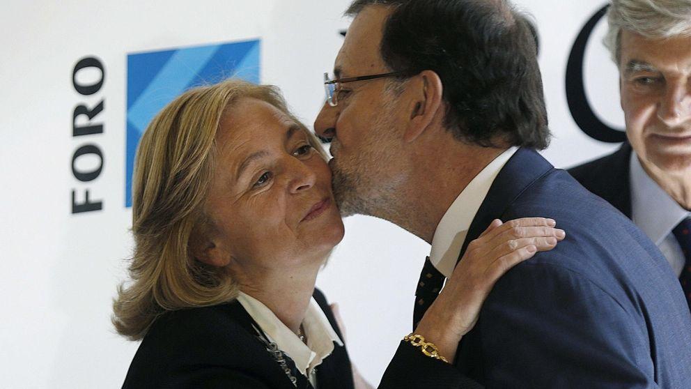 Rajoy en cueva amiga en posición de prevengan