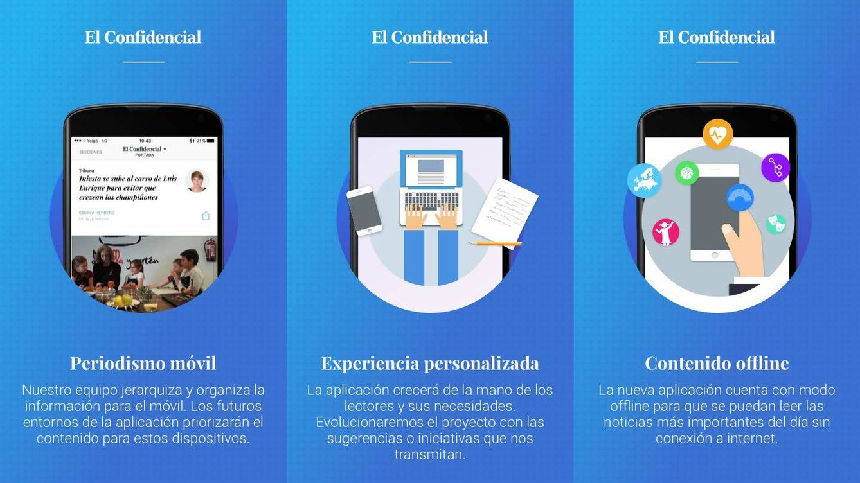 Foto: Así funciona El Confi, la nueva 'app' en beta de información de El Confidencial.