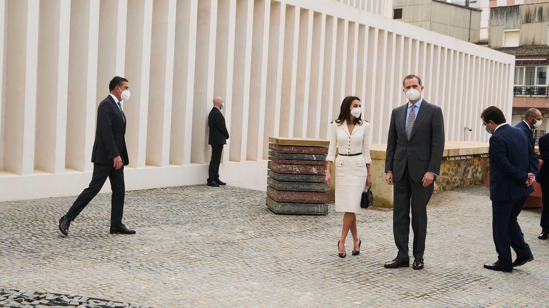 Los reyes Felipe y Letizia, este jueves en Cáceres. (Limited Pictures)