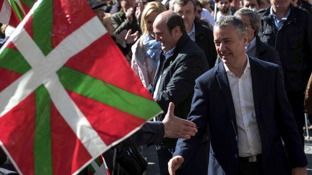 Foto: El lehendakari, Iñigo Urkullu, durante la celebración del Aberri Eguna, Día de la Patria vasca. (EFE)