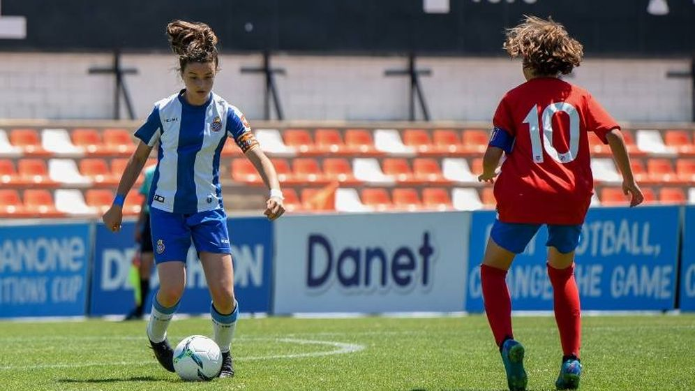 Foto: Final femenina de la Danone Nations Cup.