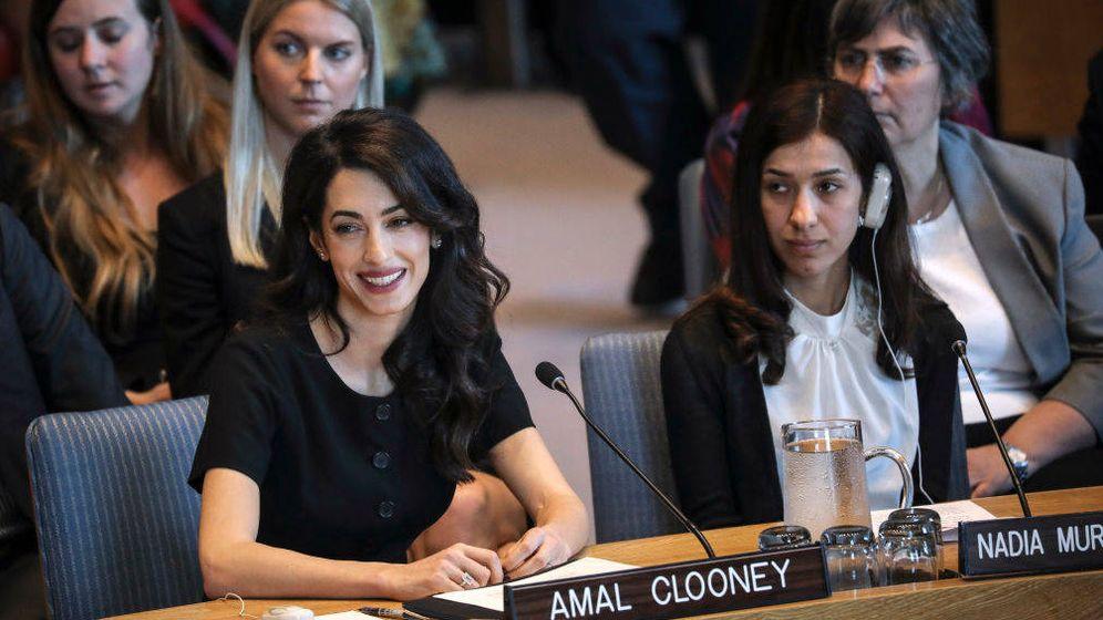 Foto: Amal Clooney, en las Naciones Unidas. (Getty)