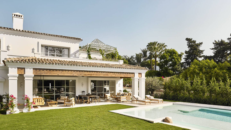 Villa Añil está dentro del exclusivo Marbella Club Hotel.