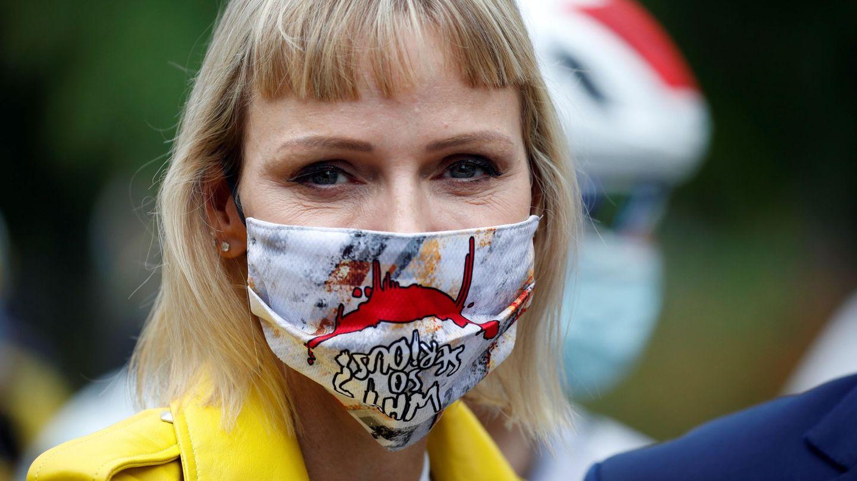 La princesa Charlène de Mónaco asiste a la primera etapa del Tour de Francia. (EFE)