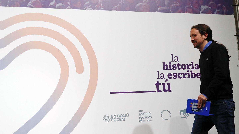 Pablo Iglesias, tras conocer los resultados de las elecciones. (EFE)