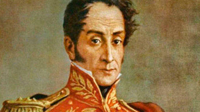 Foto: Clásico retrato de Simón Bolívar.