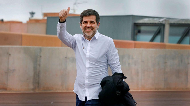 Foto: Jordi Sànchez en su salida de prisión este sábado. (EFE)