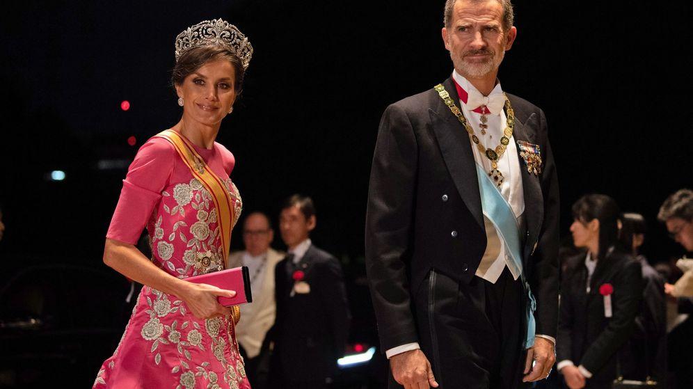 Foto: La reina Letizia, en la coronación de Naruhito de Japón. (EFE)