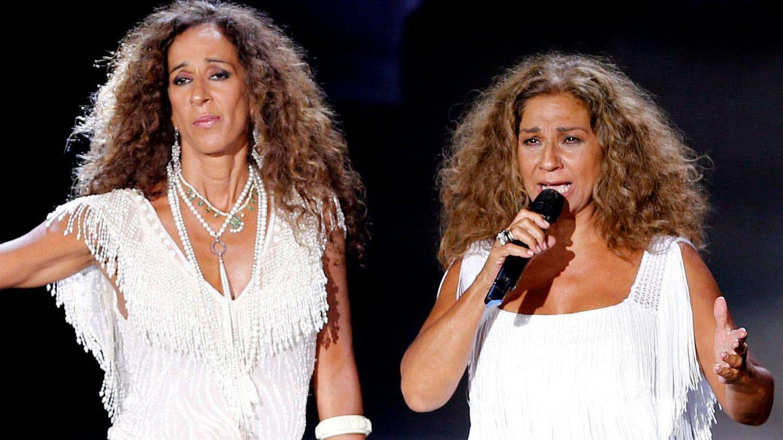 Rosario Flores y Lolita, en un concierto. (Getty)