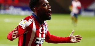 Post de Lemar mantiene el optimismo de un Atlético de Madrid que mira a la Champions (2-0)
