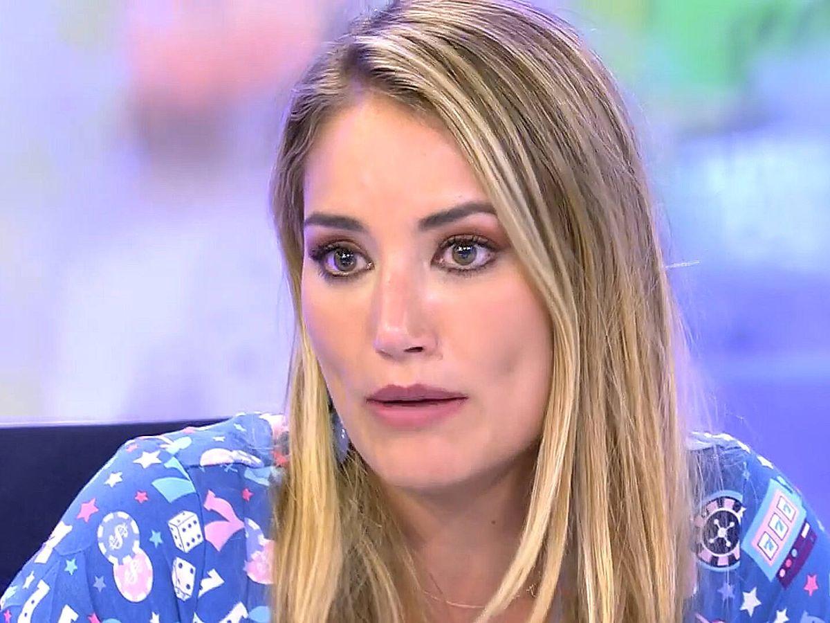 Foto: Alba Carrillo, en 'Sálvame'. (Telecinco)