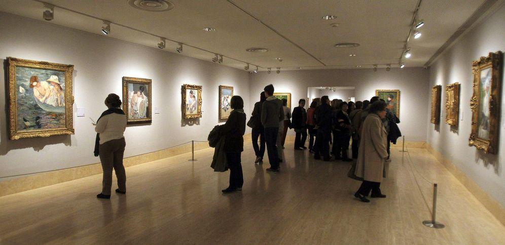 Foto: Vista general de una sala donde se exhibe la exposición 'Impresionismo Americano', en 2014. (EFE)