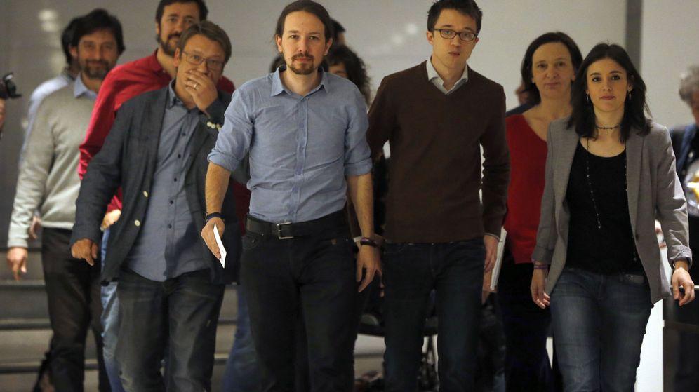 Foto: Rueda de prensa de Podemos. (Efe)
