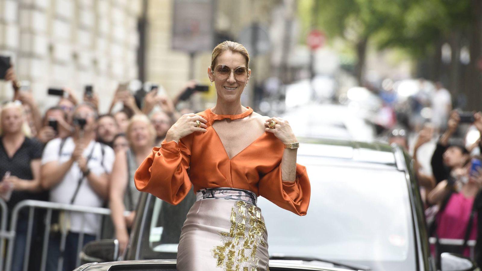 Foto: Celine Dion en París.