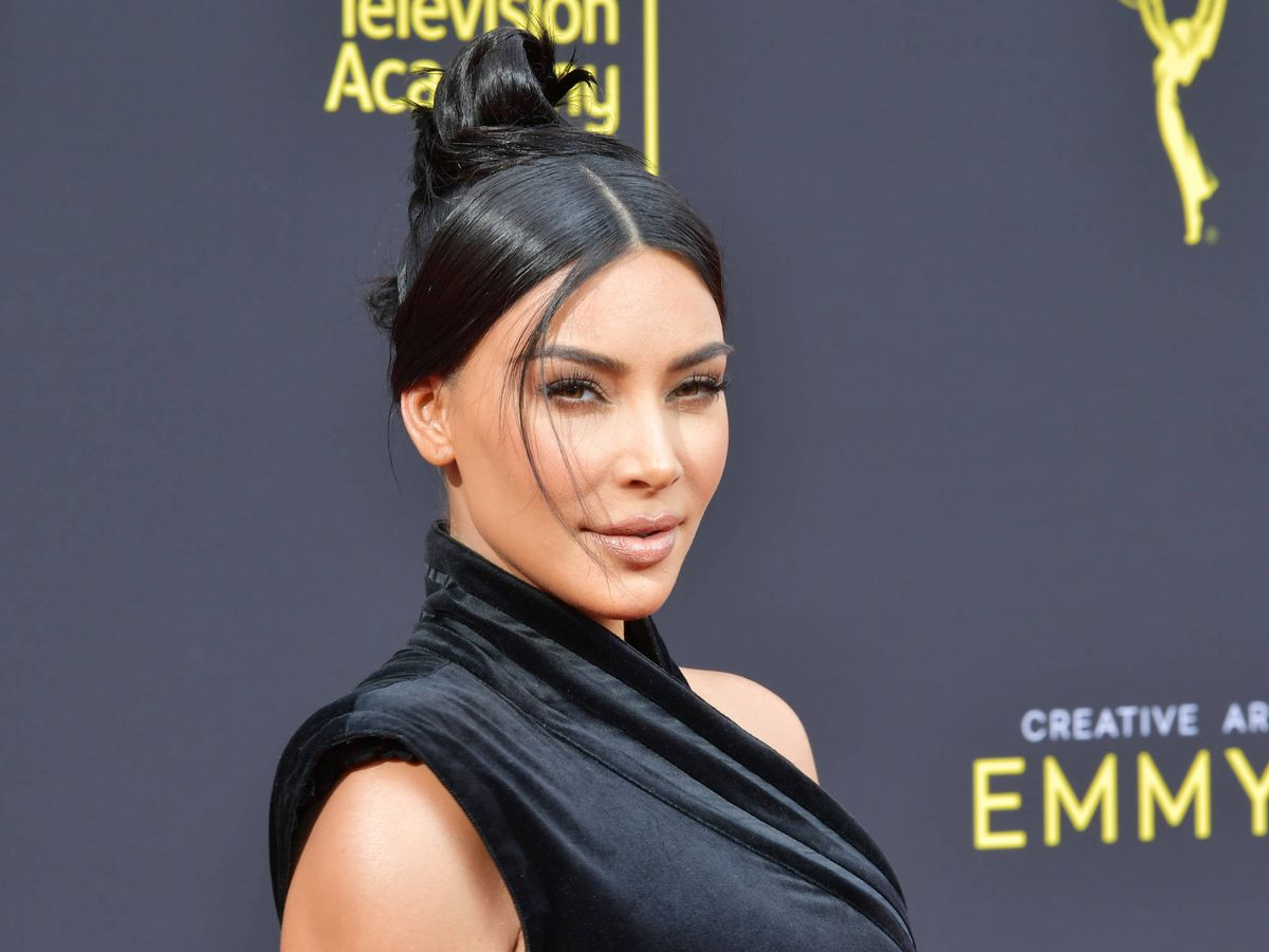 Foto:  Kim Kardashian, agradecida y emocionada. (Getty)