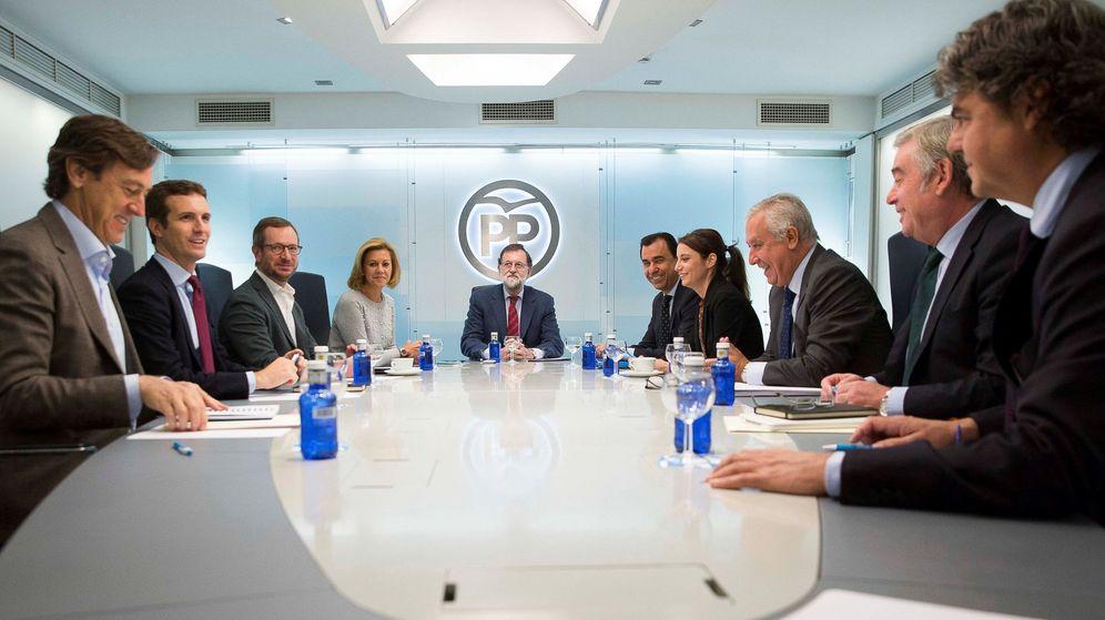 Foto: El presidente del Gobierno, Mariano Rajoy, durante una reunión del comité de dirección del PP. (EFE)