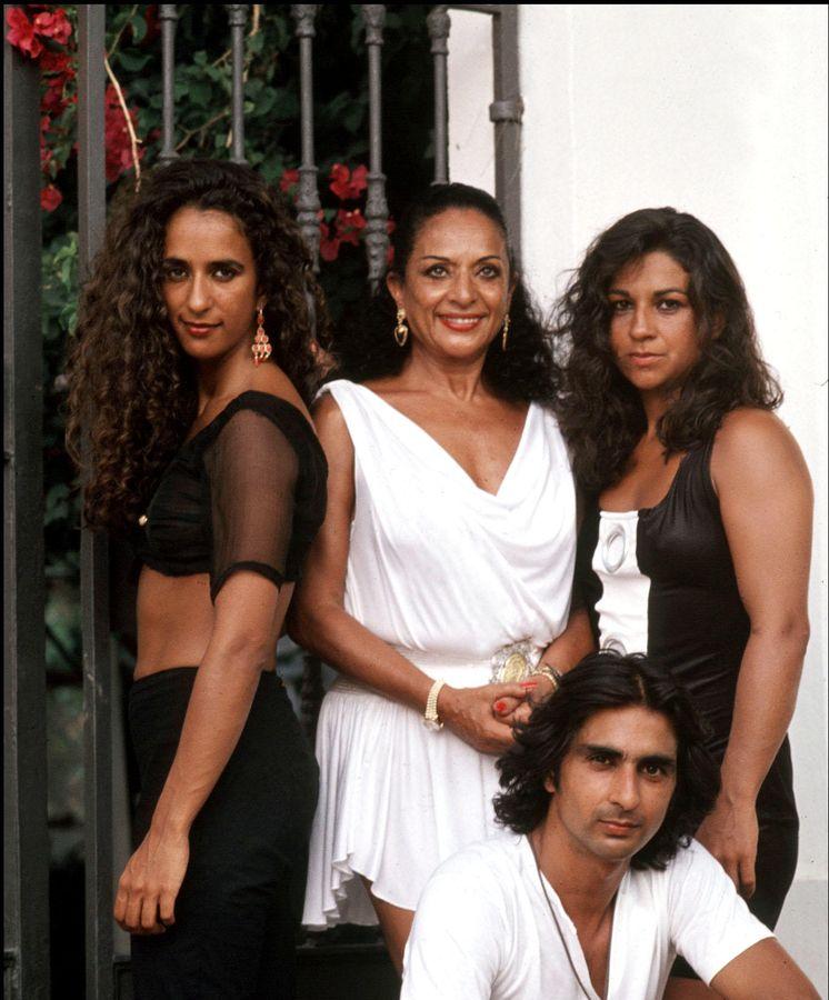 Foto: Lola junto a sus dos hijas, Lolita y Rosario (Gtres)