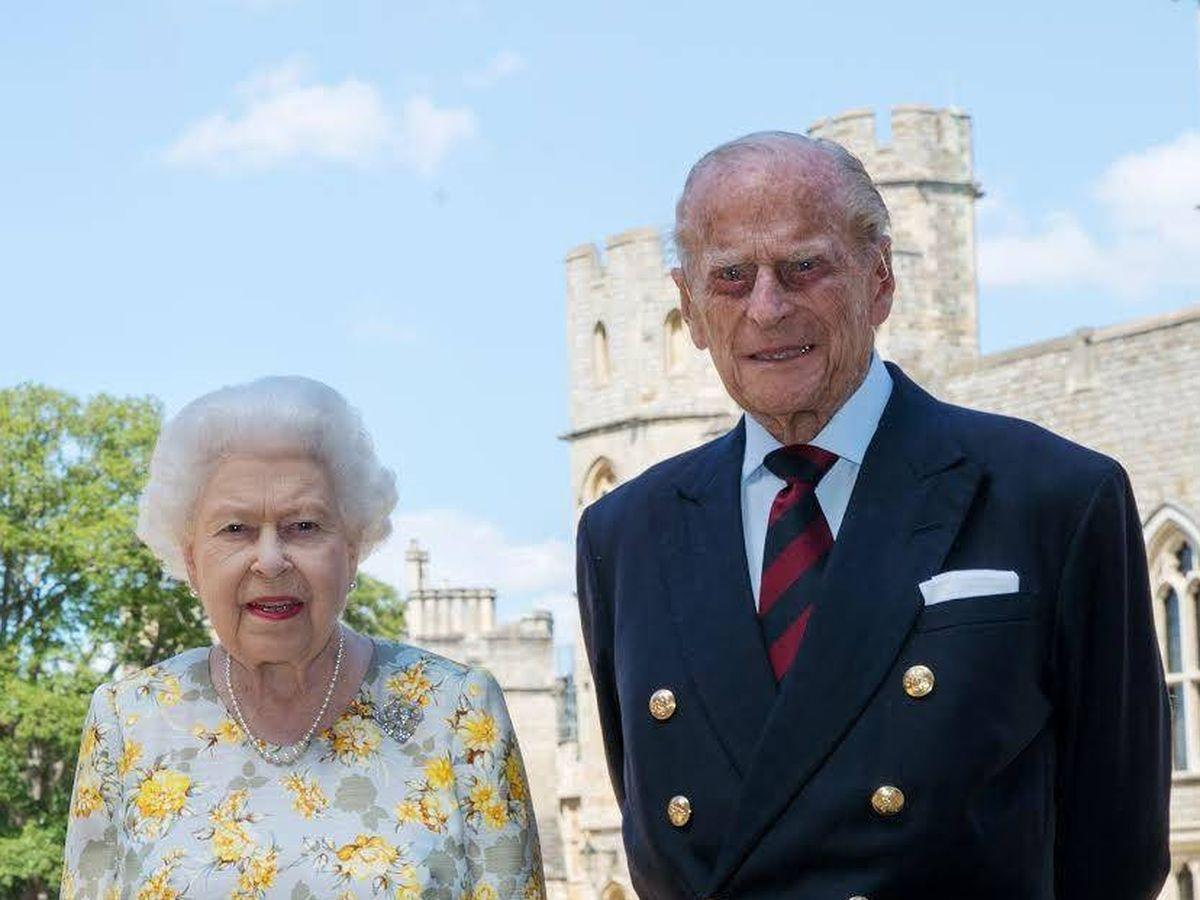 Foto: La reina Isabel y el duque de Edimburgo. (Buckingham Palace)