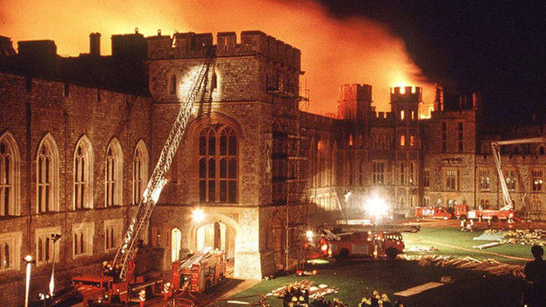 Incendio en el castillo real de Windsor. (Archivo)