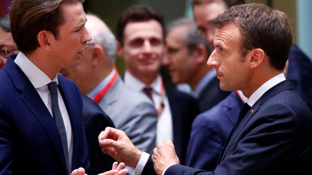 Foto: Sebastian Kurz y Emmanuel Macron. (Reuters)