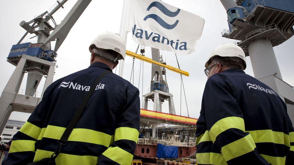 Foto: Operarios de los astilleros de Navantia en San Fernando (Cádiz). Foto: EFE
