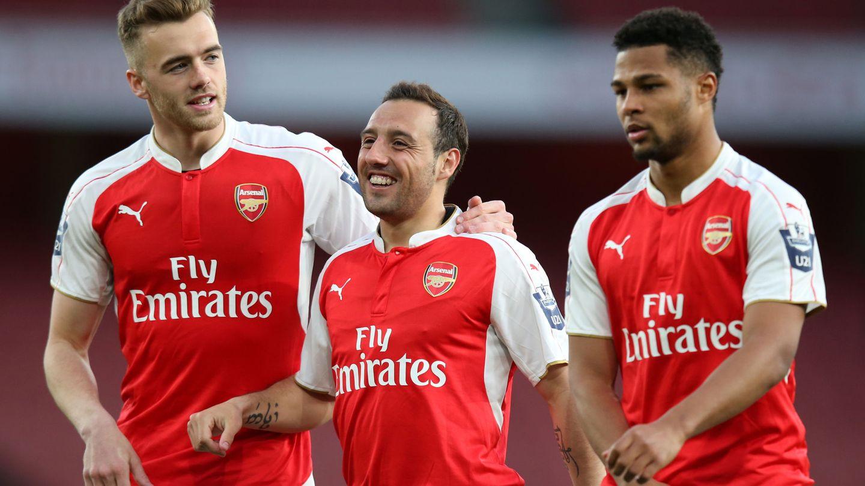 Gnabry compartió vestuario con Cazorla en el Arsenal. (Reuters)