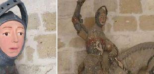 Post de La restauración de una escultura de San Jorge del siglo XVI, el nuevo 'Ecce Homo'