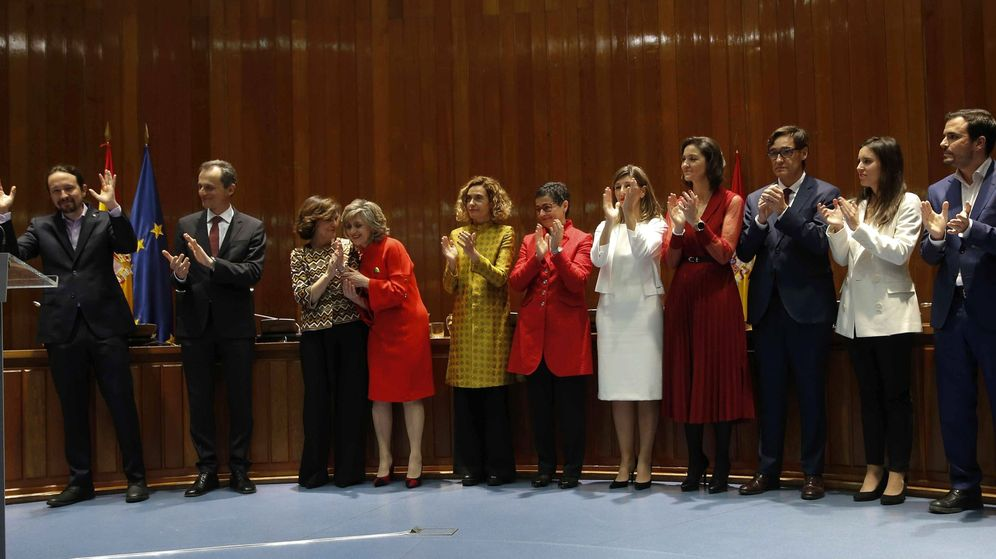 Foto: Toma de posesión de los nuevos ministros. (EFE)