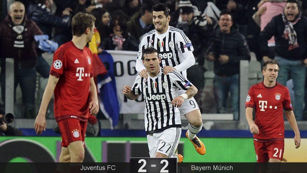 Foto: Morata y Sturaro, dos suplentes salvaron a la Juve (Reuters).
