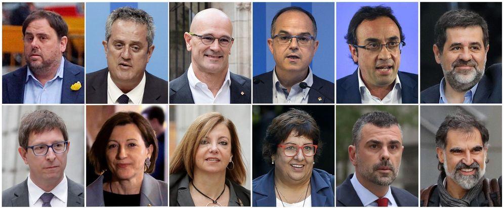Foto: Imágenes de los 12 condenados por el 'procés'. (EFE)
