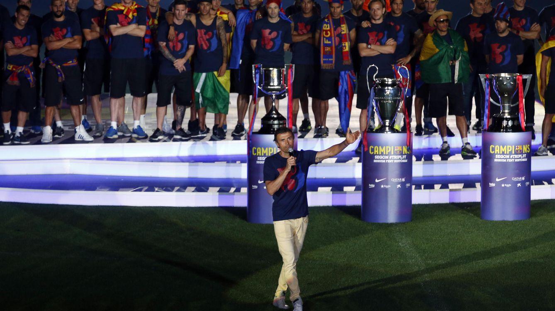 Foto: Luis Enrique habla en el Camp Nou (Reuters)