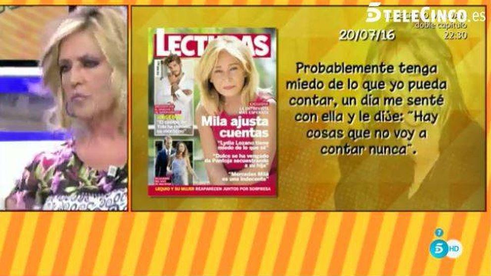 Mila Ximenez amenaza a Lydia Lozano y ella responde