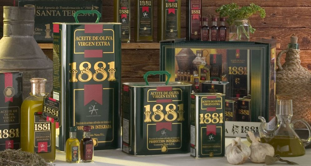Foto: Aceite de oliva virgen extra 1881.