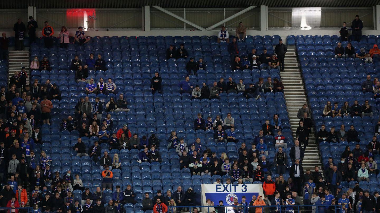 Las gradas del estadio del Rangers. (Reuters)