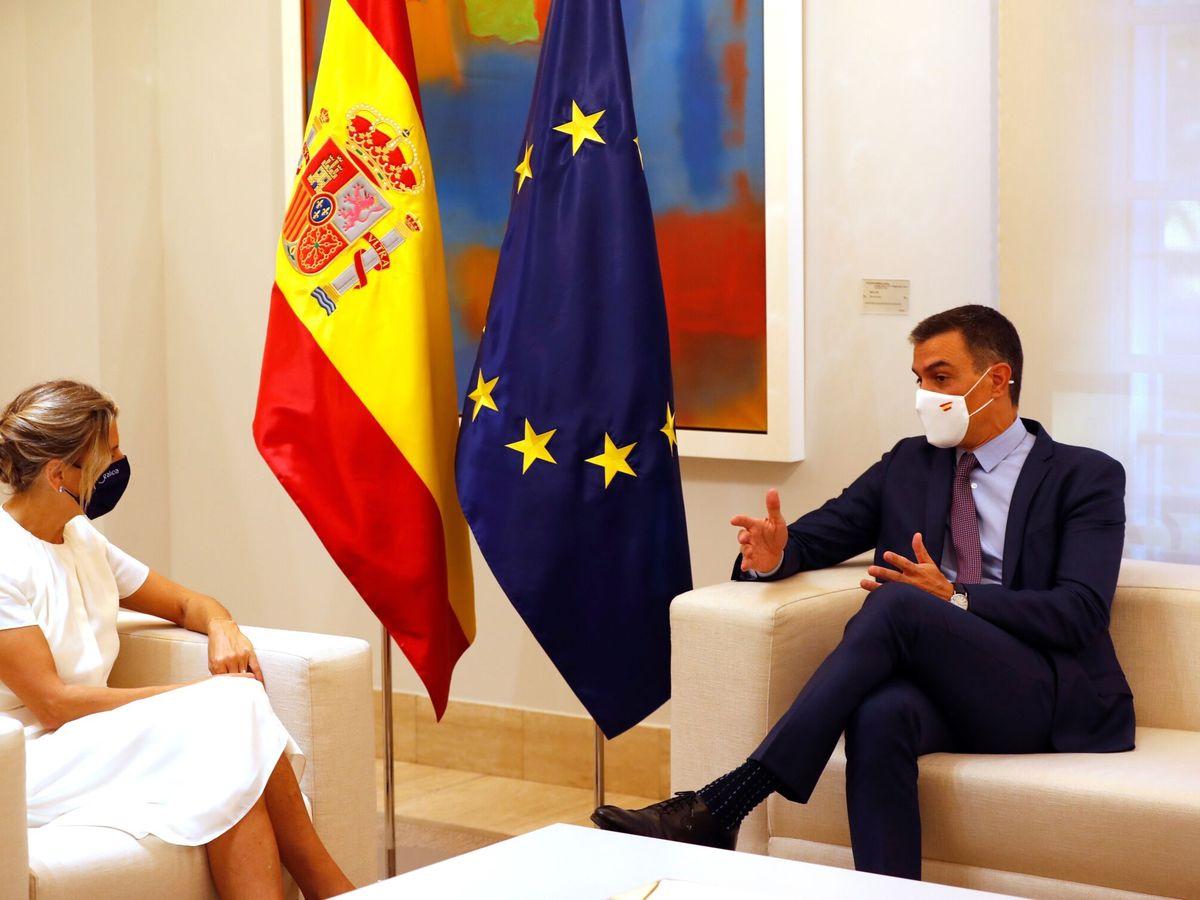 Foto: Yolanda Díaz y Pedro Sánchez. (EFE)