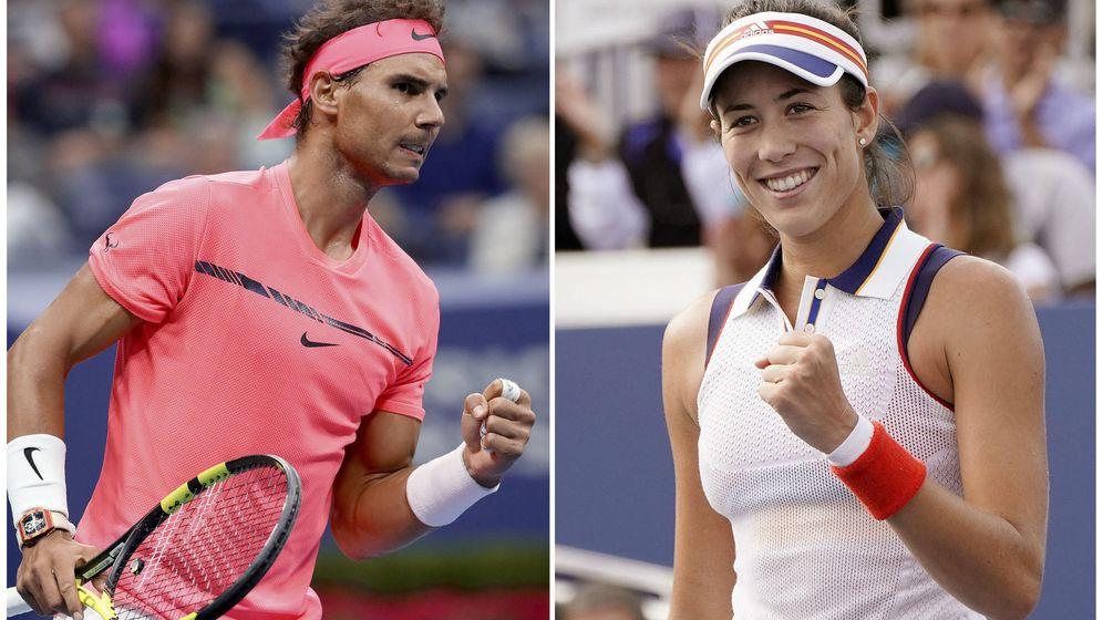Foto: Rafa Nadal y Garbiñe Muguruza, los dos mejores tenistas españoles.